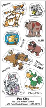 Positively Pets  Animal Festive Sticker Sheets